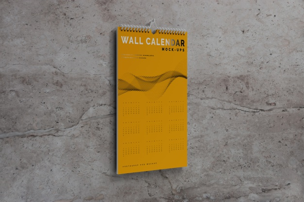 Vertical Wall Calendar Mockup 358694 83