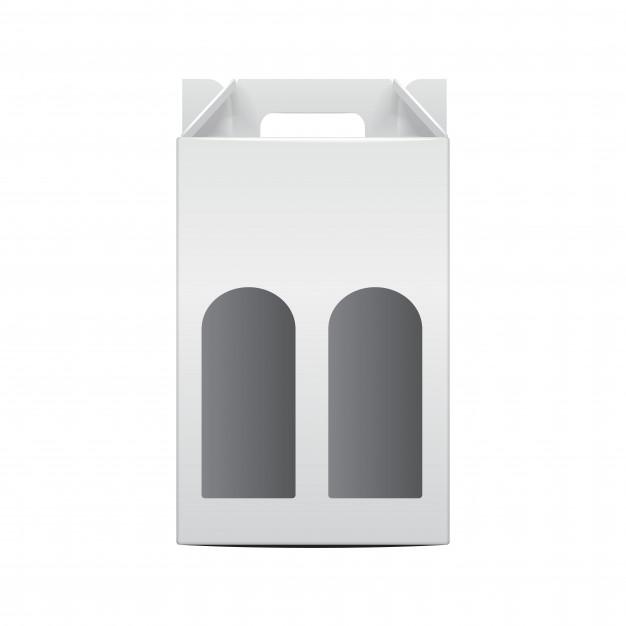 White Folding Package Vine Bottle Template 255767 709