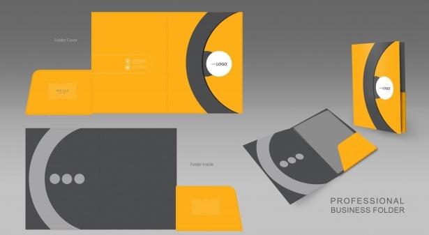 Yellow Grey Business Folder 1412 4